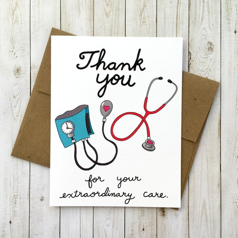 Personal Del Hospital Tarjeta De Agradecimiento Tarjeta De Image 1
