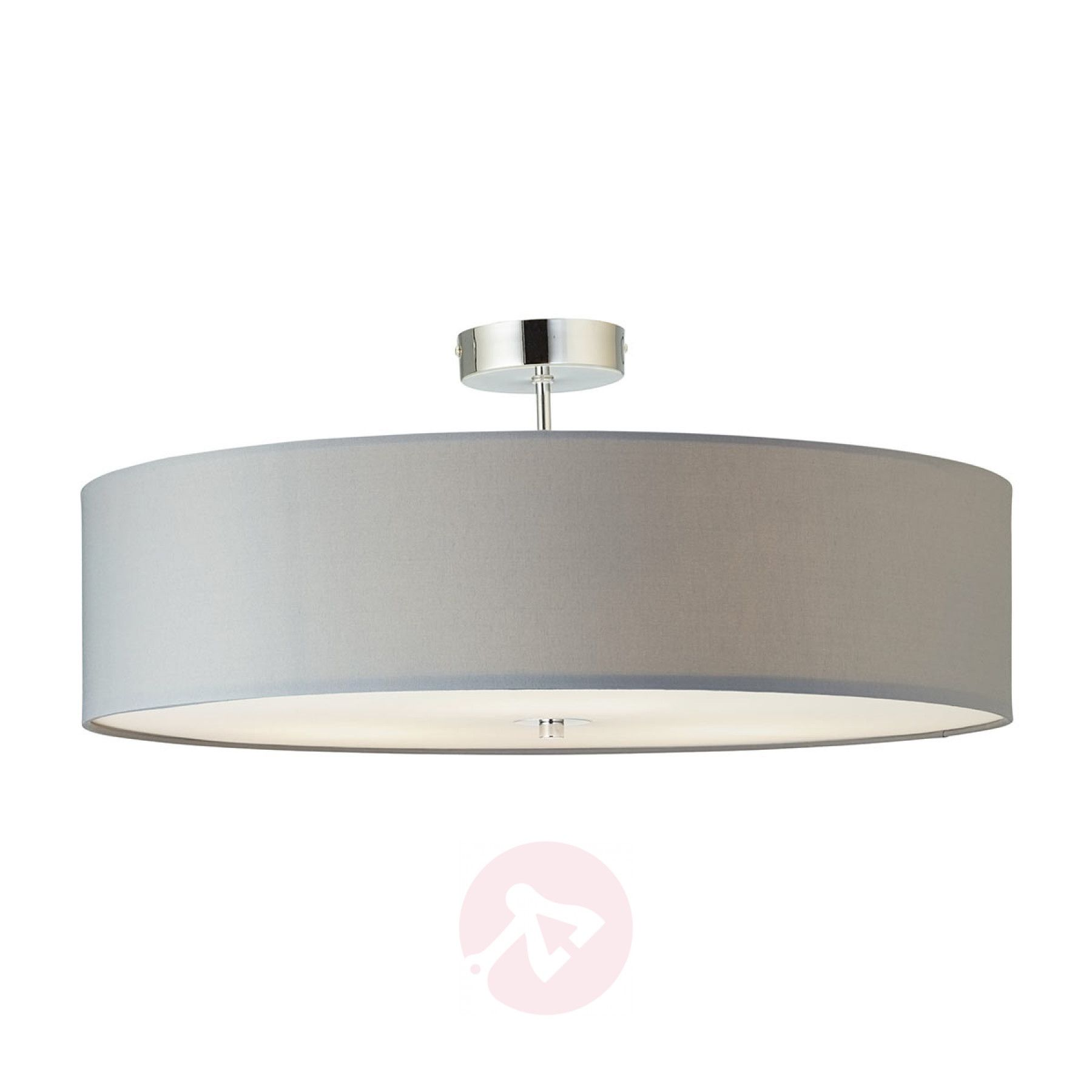 Semi Flush Ceiling Light Andria Fabric