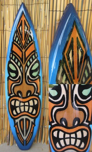 TIKI SOUL DECORATIVE SURFBOARD ART - The Warrior Surfboard decor ...