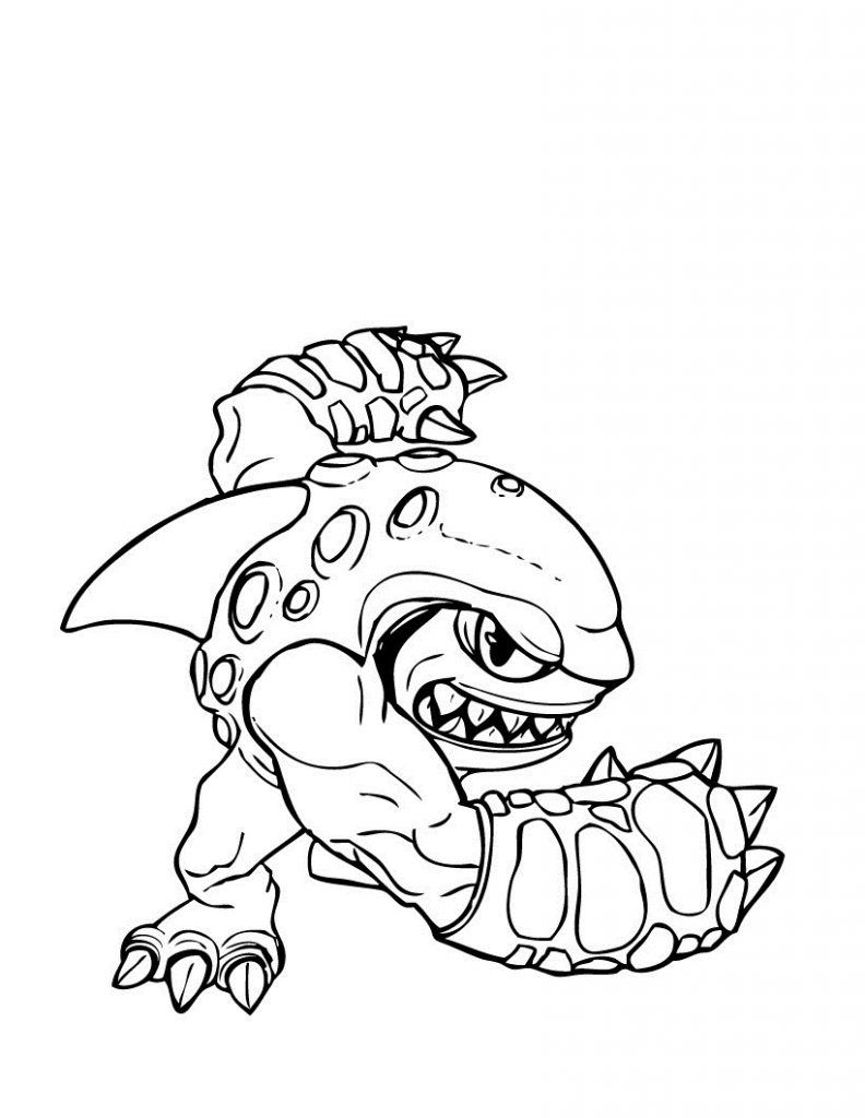 Free Printable Skylander Giants Coloring Pages For Kids In 2020 Shark Coloring Pages Cartoon Coloring Pages Coloring Pages To Print