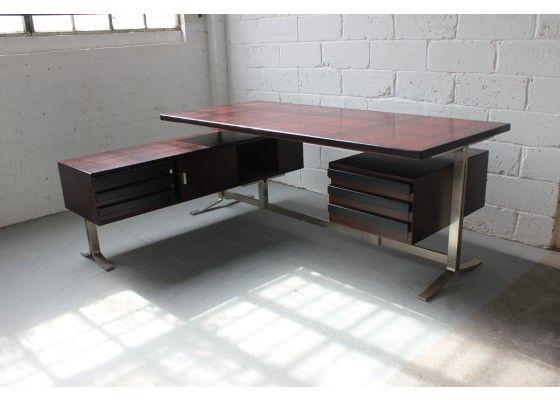 Vintage Executive Schreibtisch von Moscatelli für Formanova 1970 via pamono.de, EUR 2.650,00