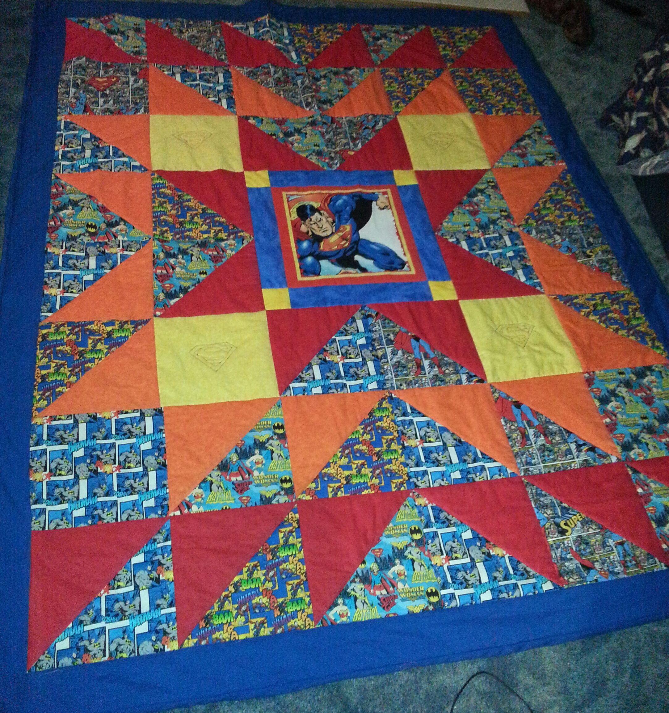 Superman Queen sized quilt