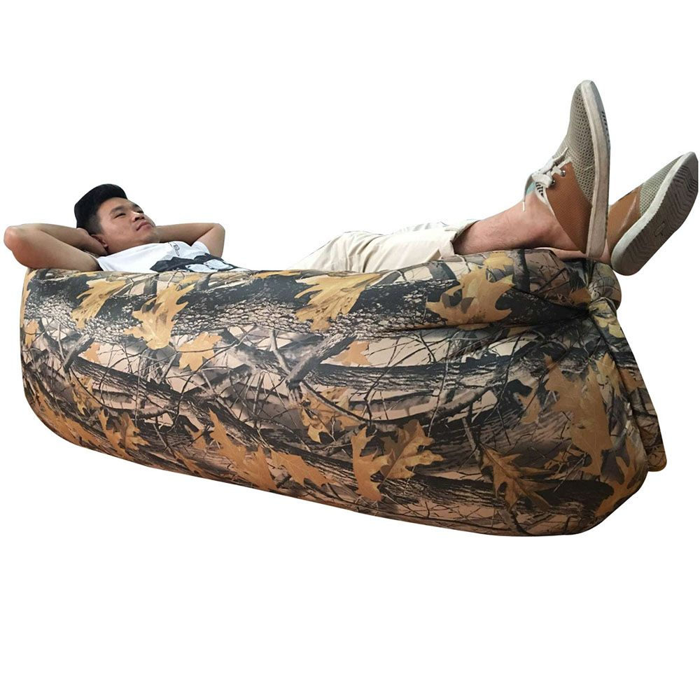 Chaise Lounge Sofa New Fast Inflatable Sofa Outdoor Air Bag Lazy Sofa Super Light Ultralight Camouflage Hiking Camping