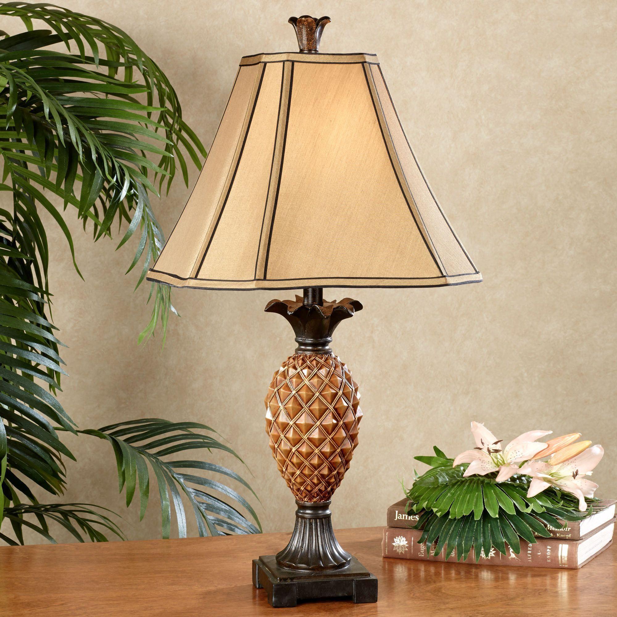 Haina Tropical Pineapple Table Lamp Table Lamp Lamp