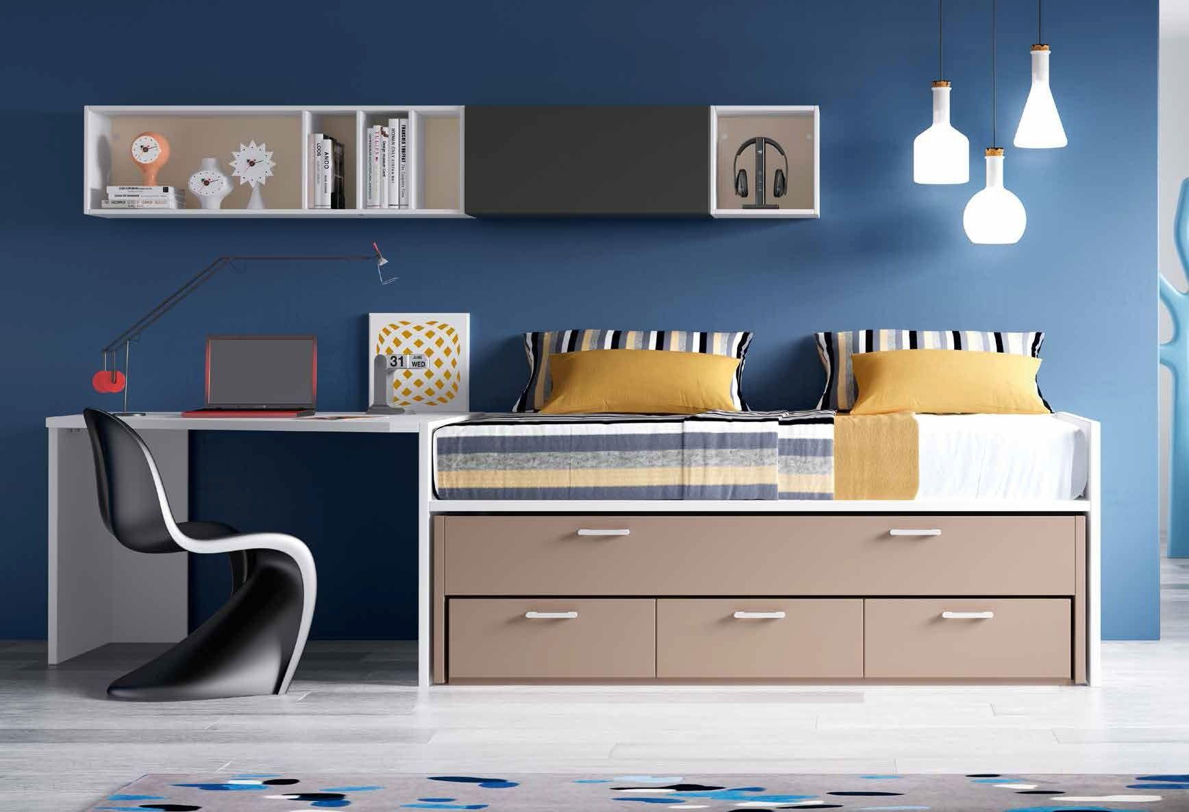 Habitaci n juvenil moderna quinn en 2019 habitaciones for Alcobas juveniles modernas