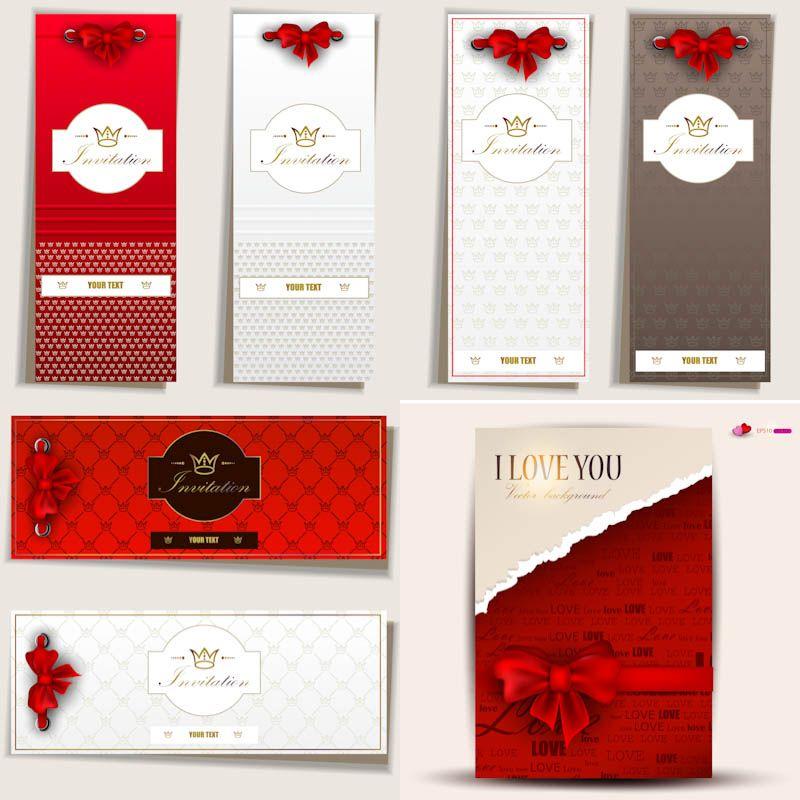 Romantic invitation cards vector Scrαpɓσσк✁Cɑɾɖ Mαkíɲɠ✄Fσɲʈʂ - free invitation cards templates