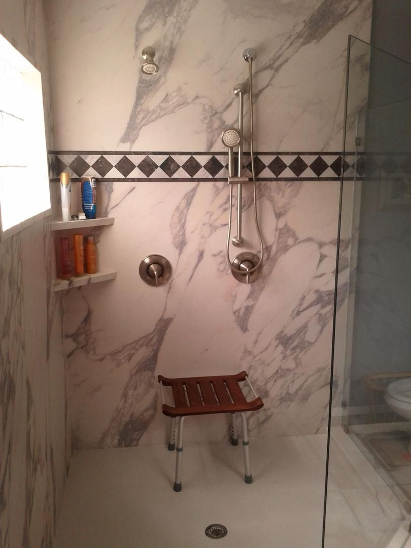 Before And After Shower With Base Gl Door Brevard Florida Bathroom Remodel Cocoa Melbourne Fl
