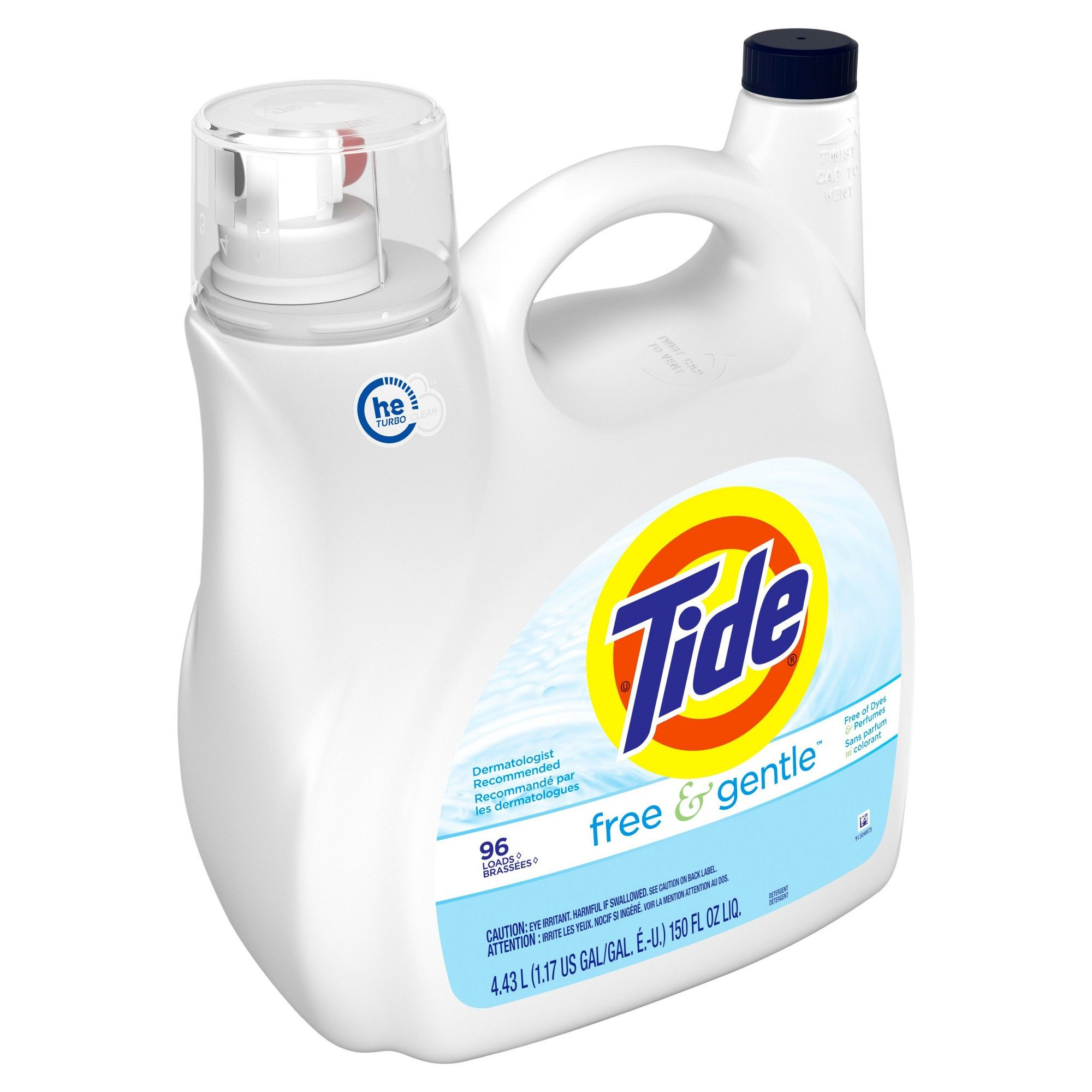 Tide Free Gentle He Liquid Laundry Detergent 138 Fl Oz With