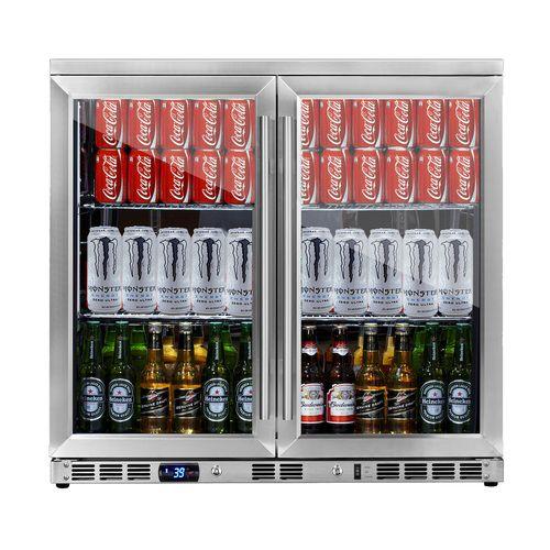 36 Inch Heating Glass 2 Door Built In Beverage Fridge Beverage