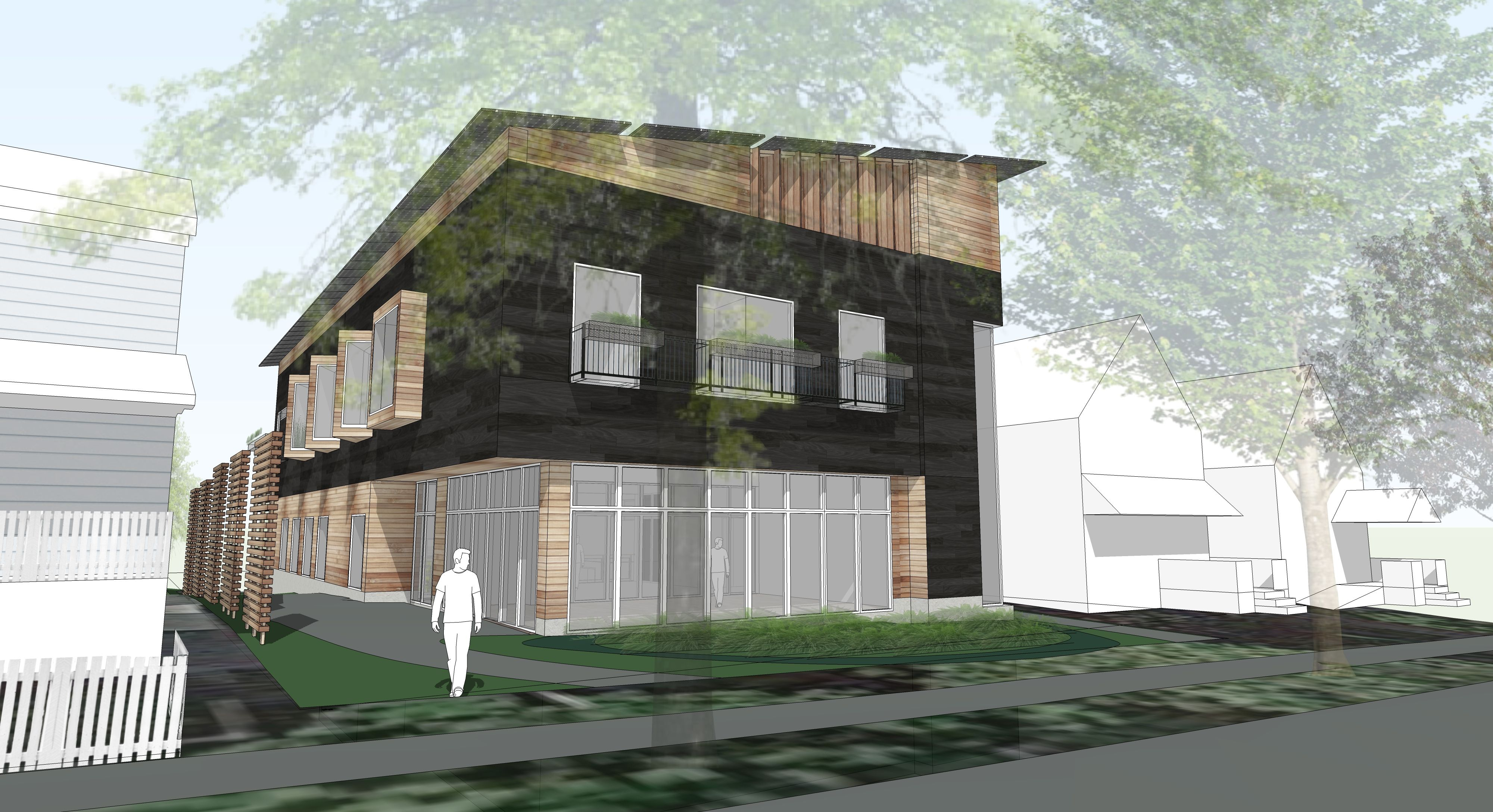 Sketchup For Net Zero Energy Ann Arbor In Design House Styles Outdoor Structures Zero Energy Building