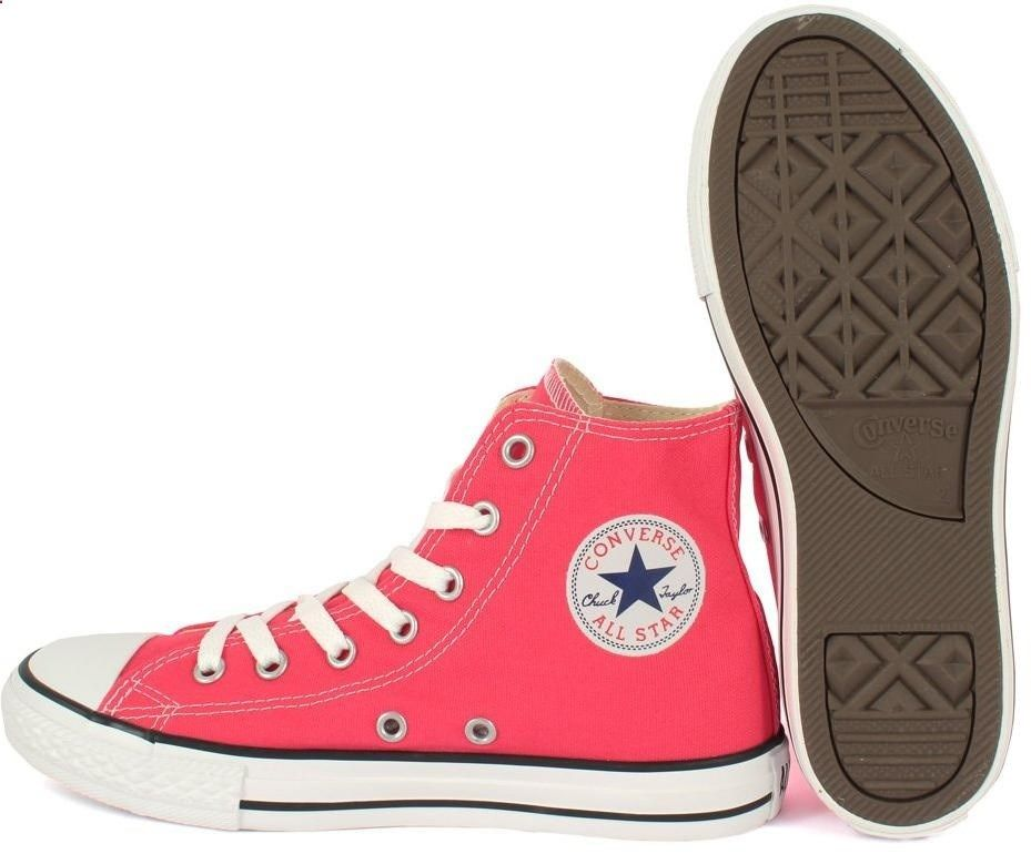 converse red high tops kids