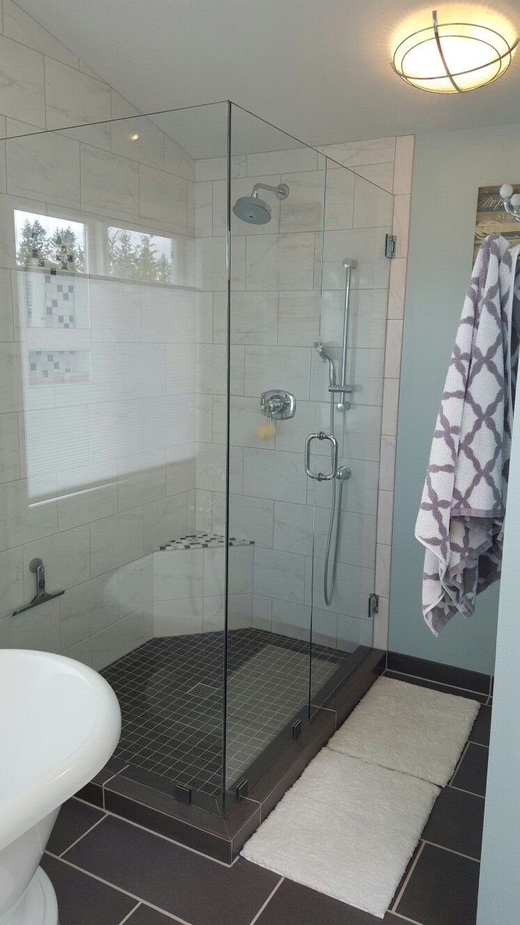 Walk In Shower Utilized Hydro Blok Shower System 6x9 Dall Marble