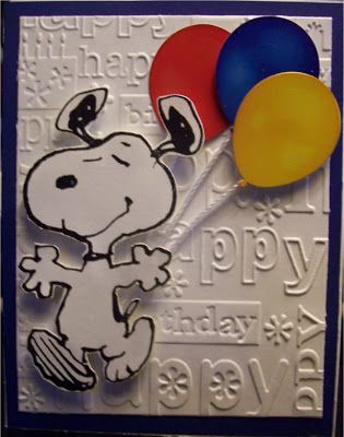 Snoopy S Homemade Fun Snoopy Tuesday Snoopy Birthday Card Snoopy Birthday Kids Cards 1st Birthday Cards