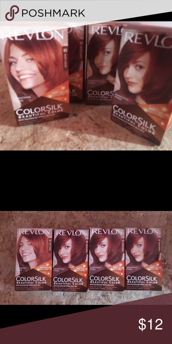 Four 4 Unopened Boxes Of Revlon Hair Color Reds Four 4 Unopened Boxes Of Revlon Colorsilk Hair Red Hair Color Revlon Hair Color Revlon Colorsilk Hair Color