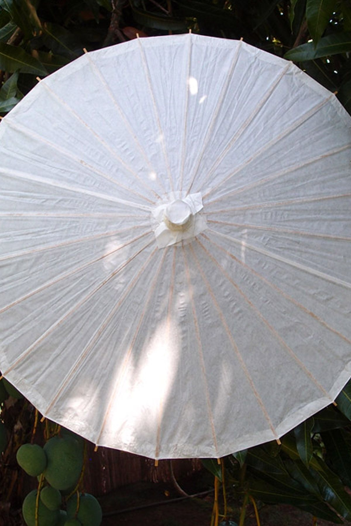 945aca97e 5.49 SALE PRICE! Offer white paper parasols to your guests as a creative  shield from the sun at an outdoor event or use these white parasols as  decorations.