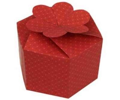Diy Valentine Gift Box Printable Template Free Papercraft