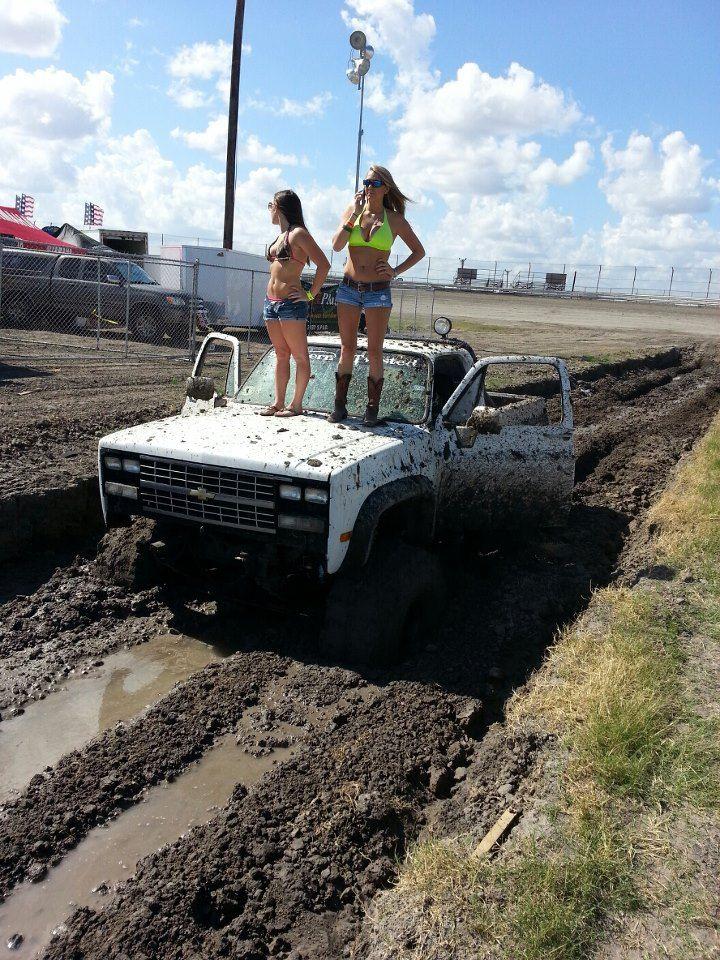 Stuck Mud Lifted Truck