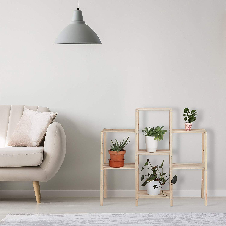 AFFILIATELINK | Relaxdays Pflanzenregal Holz, für Innen, stabil ...