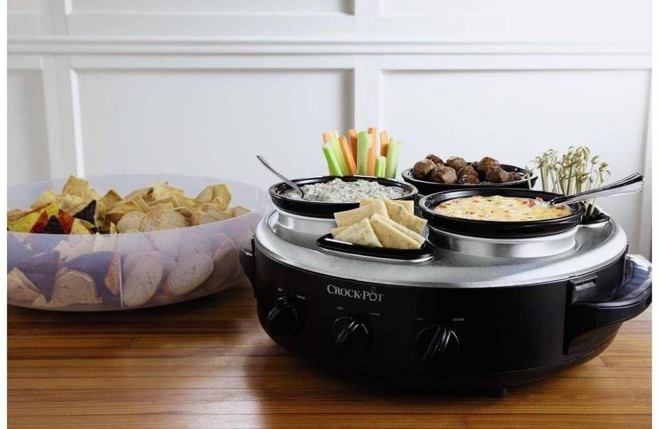 Crock-Pot® Little Triple Dipper® Food Warmer wit... : Target