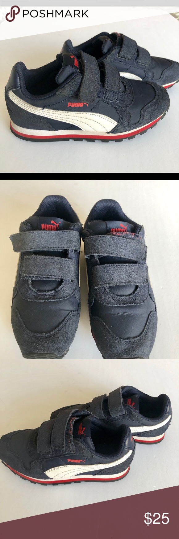 PUMA Little Boy Size 1 with Velcro