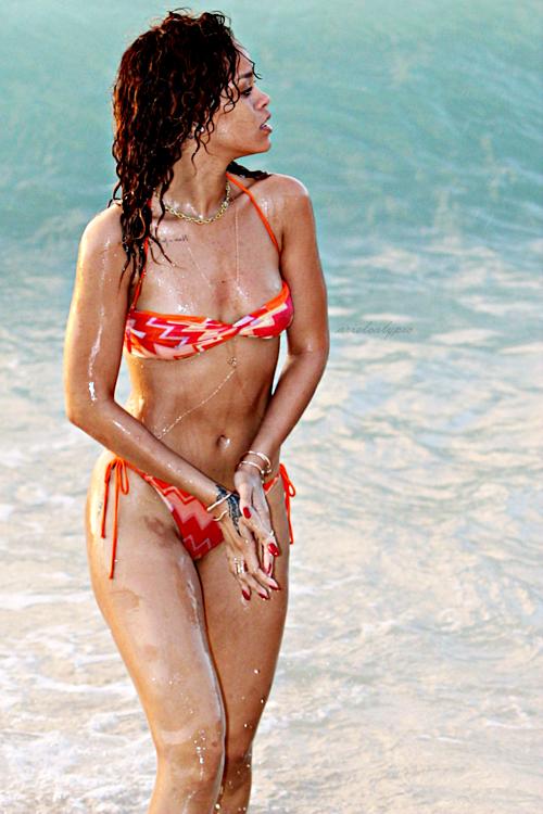 thru bikini barbados see Rihanna