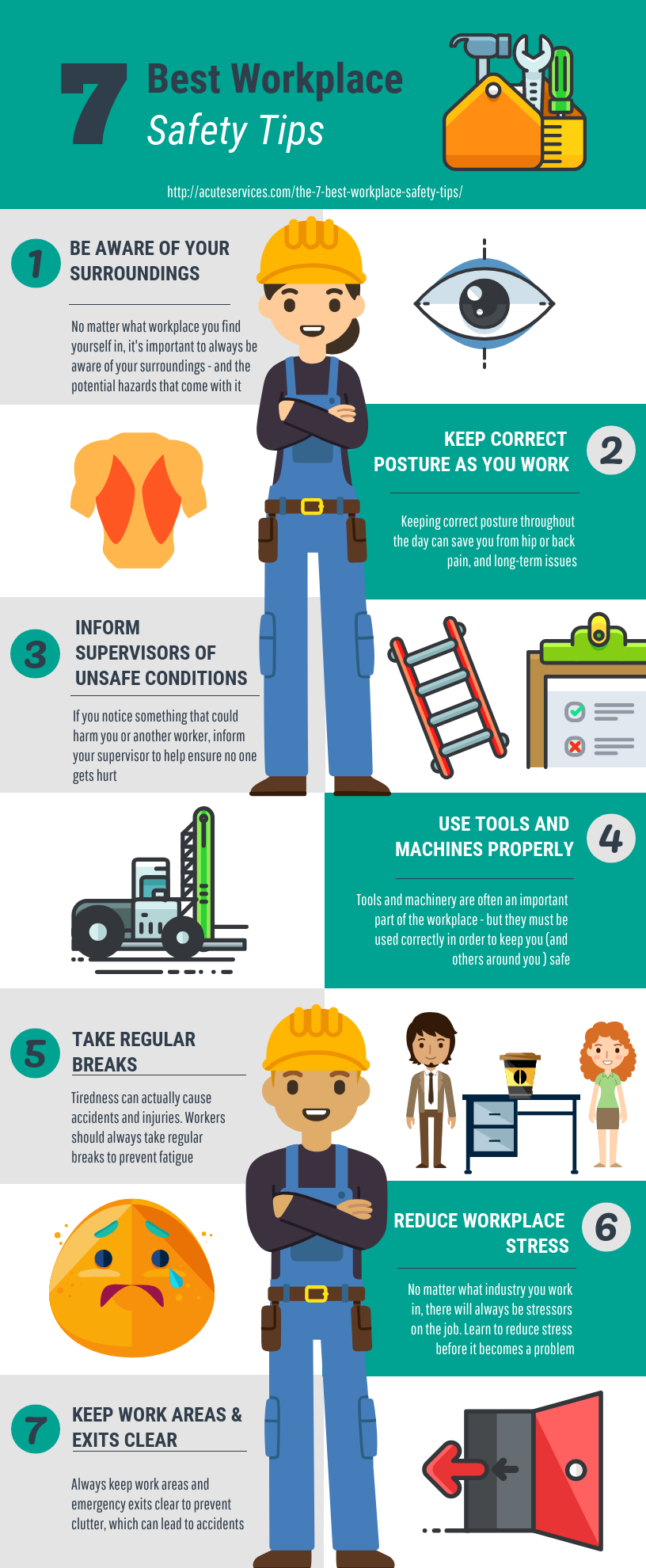 7 Best Workplace Safety Tips An Infographic Workplace Safety Tips Workplace Safety Safety Infographic