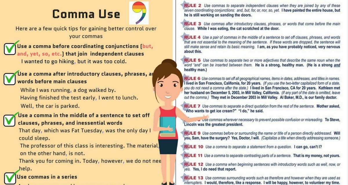 Rules for Comma Usage: How to Use Commas Correctly!   the