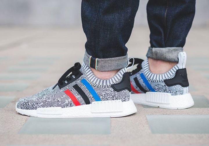 adidas NMD R1 PK Tri Colour Grey Men Shoes : Seasonal