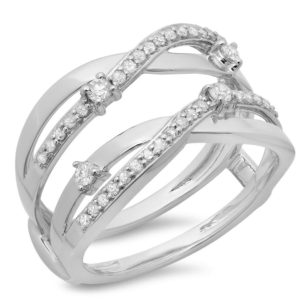 5ab4722ce7bba Dazzlingrock Collection 0.40 Carat ctw 14K White Gold Round Diamond ...