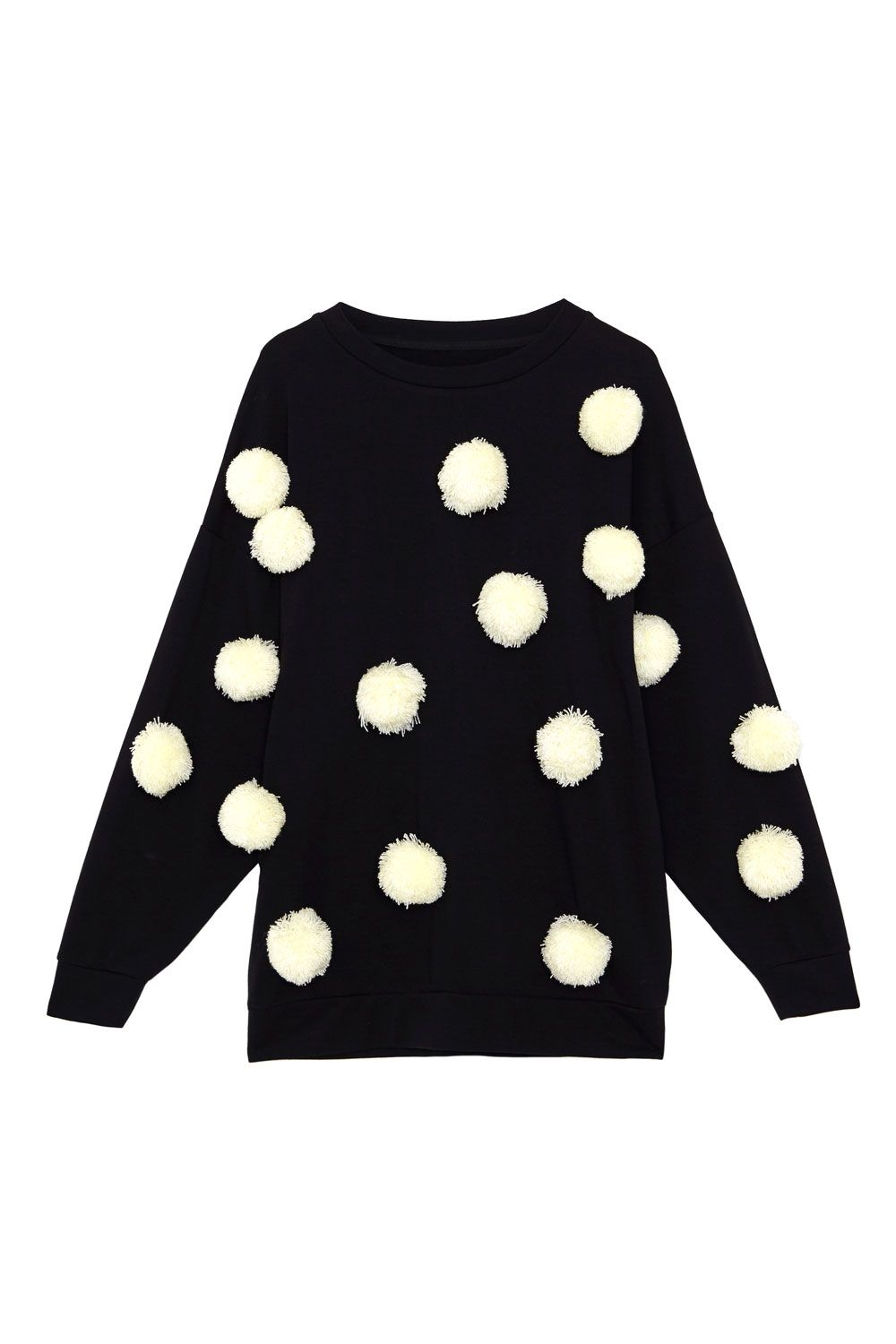 News Marie Claire Sweaters Crew Neck Sweater Polka Dot Sweater