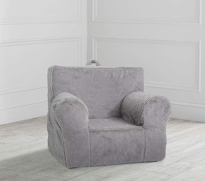 Incredible Pottery Barn Kids My First Gray Faux Fur Plush Anywhere Uwap Interior Chair Design Uwaporg