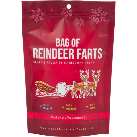Bag Of Reindeer Farts Cotton Candy Stocking Stuffer