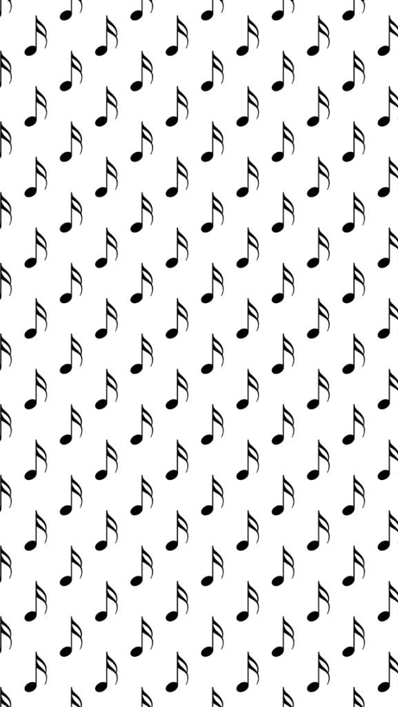 Black Musical Notes iPhone 5 Wallpaper and iPhone 6 Wallpaper