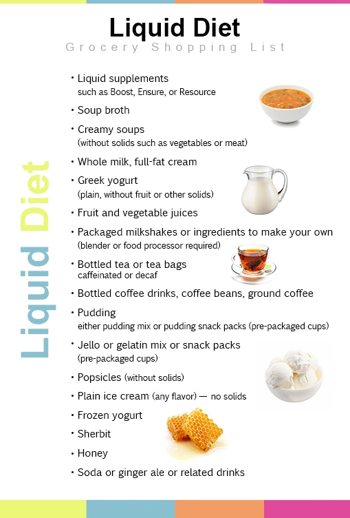 what to have on a liquid diet