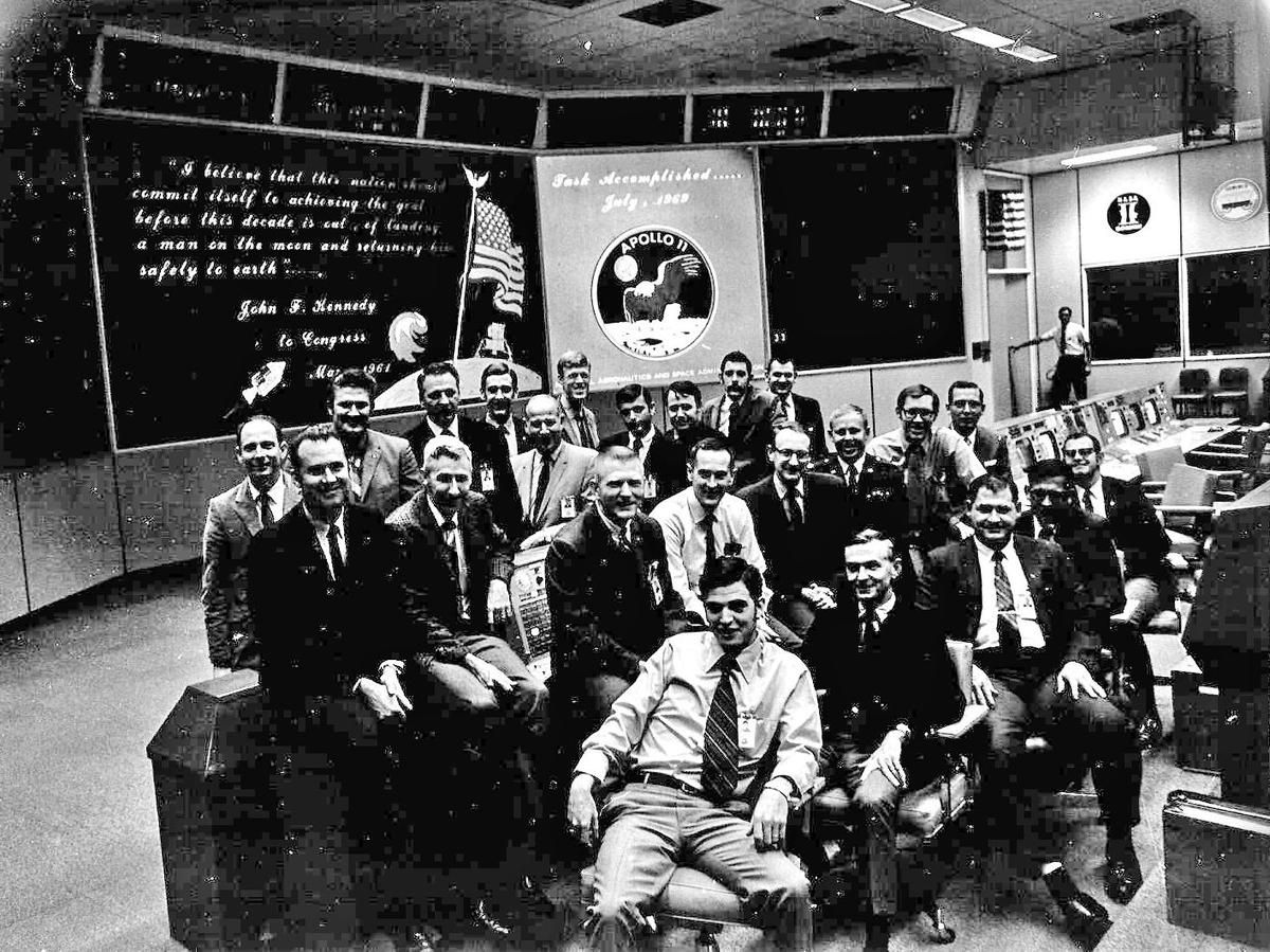 The Mission Control team for Apollo 11, the first NASA ...