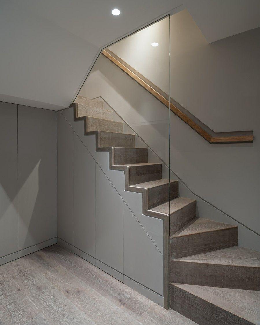 18 Modern Glass House Exterior Designs: Amazing Sleek Modern Glass Railing Stair Design Ideas 3 W