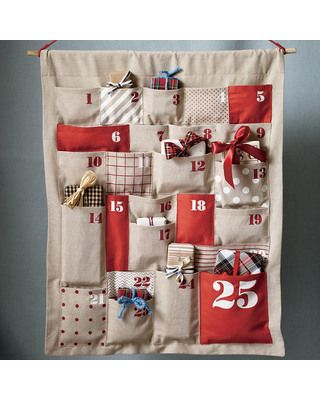 Gorgeous DIY Advent Calendar Fun project! Christmas Pinterest