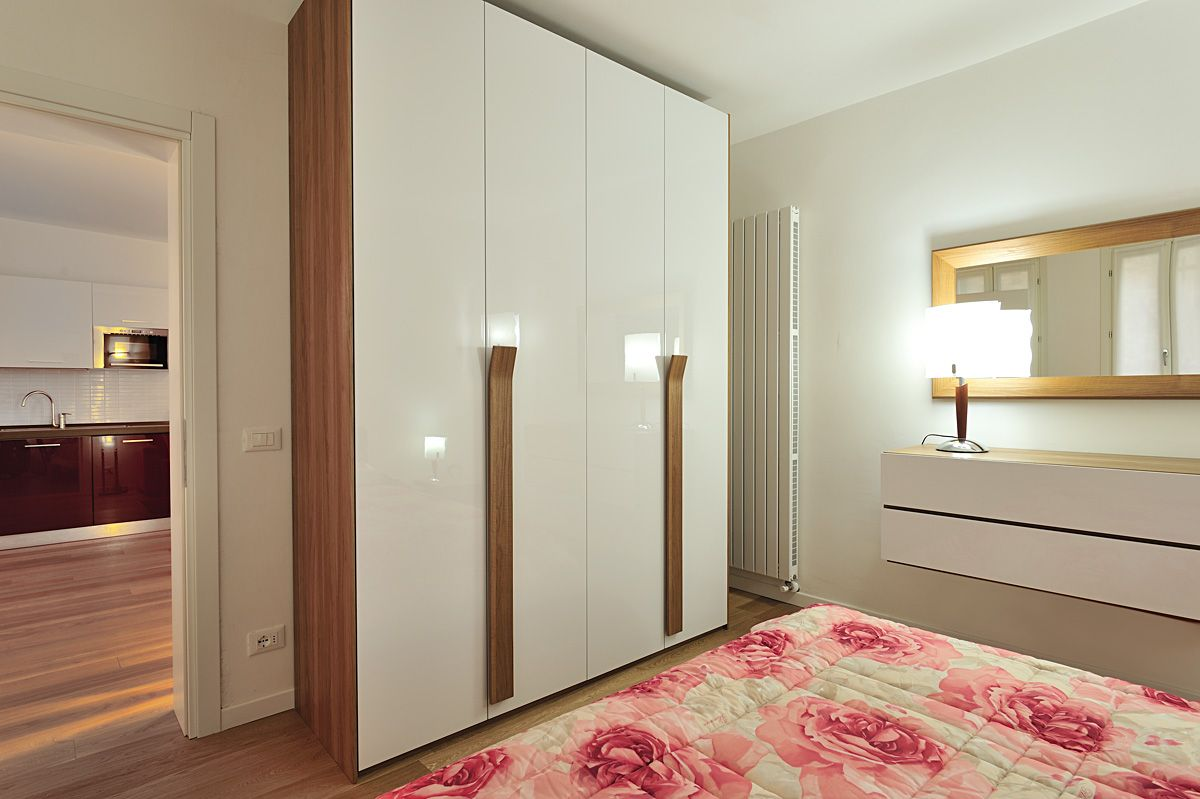 Master bedroom wardrobes are designed to be different from Bedroom with kitchen design