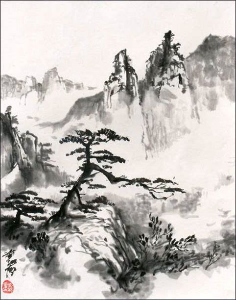 Contemporary Sumi Chinese Painting Gallery From Jan Zaremba In