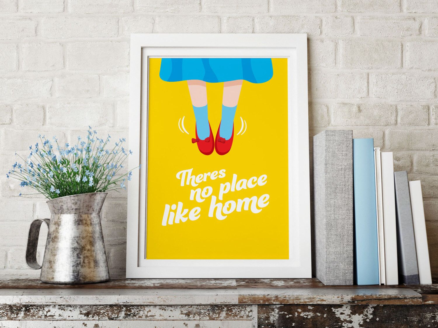 Wizard of OZ/Theres no place like home /Movie poster/Print /Wall Art ...