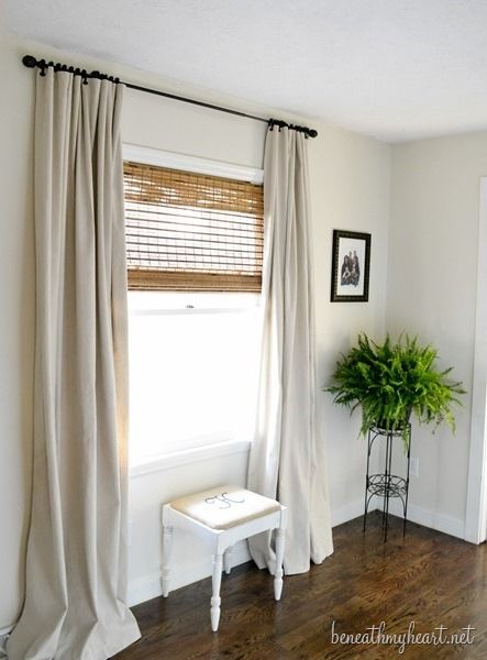 Drop Cloth Curtains Buy Them From Home Depot With No Seam Down The Middle