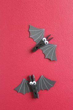DIY: Fledermäuse aus Wäscheklammern