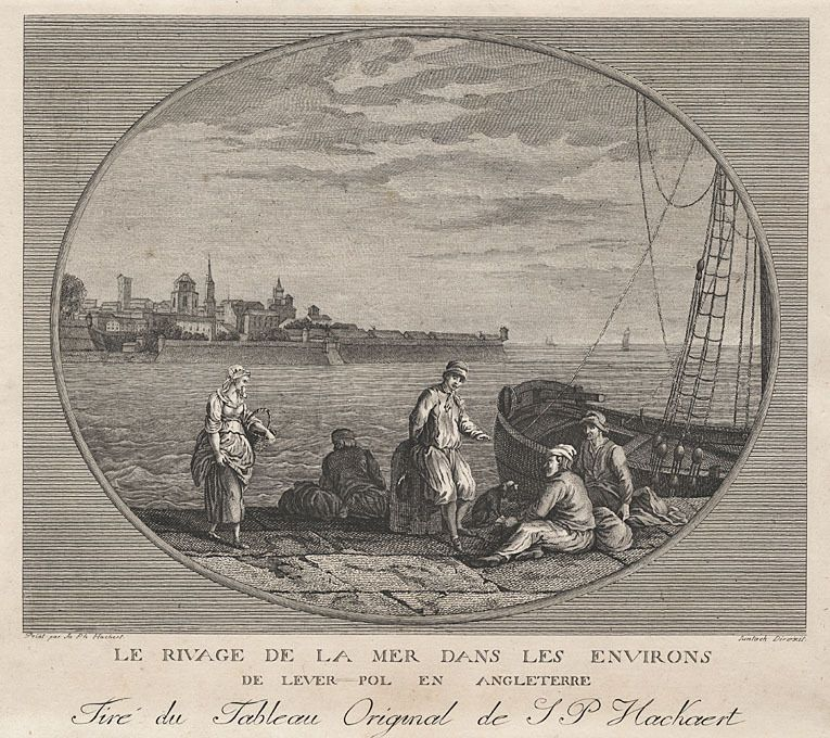A. Suntach/J.Ph. Hackert: Küste bei Liverpool.- Kupferradierung, um 1800 in Antiquitäten & Kunst, Grafik, Drucke, Ansichten & Landkarten | eBay