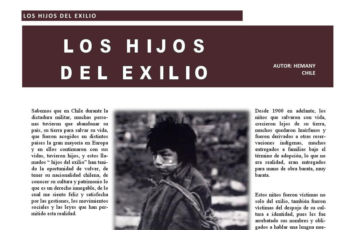 """""""Los Hijos del Exilio"""" por Hemany Los sobrevivientes fueron deportados o exiliados, arrebatos de su tierra- #Chile Revista 400"""