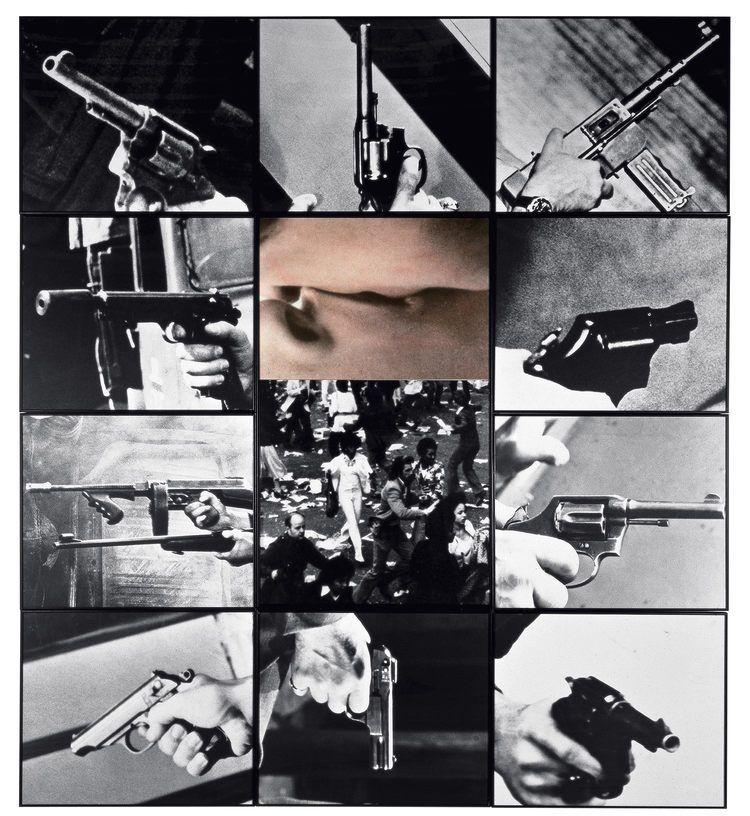 Kiss / Panic , 1984  ©John Baldessari