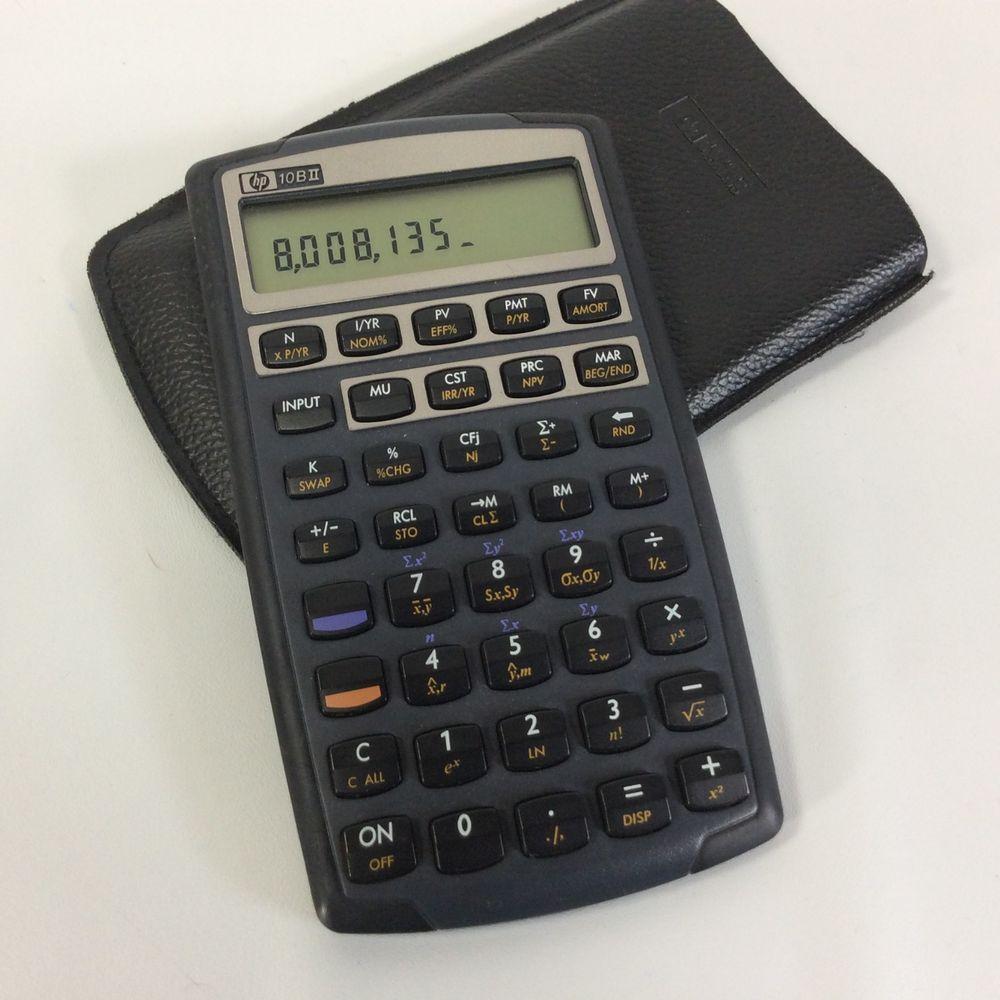 HP 10BII Calculator With Slipcase Cover Hewlett Packard