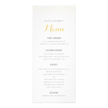 Gold Diamond on White Wedding Menu Template | Wedding Invites, RSVP ...