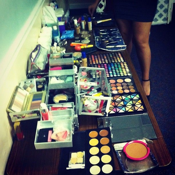 #Backstage before the #Pageant I ❤ doing #Makeup ❤ - @miss_glamazon- #webstagram