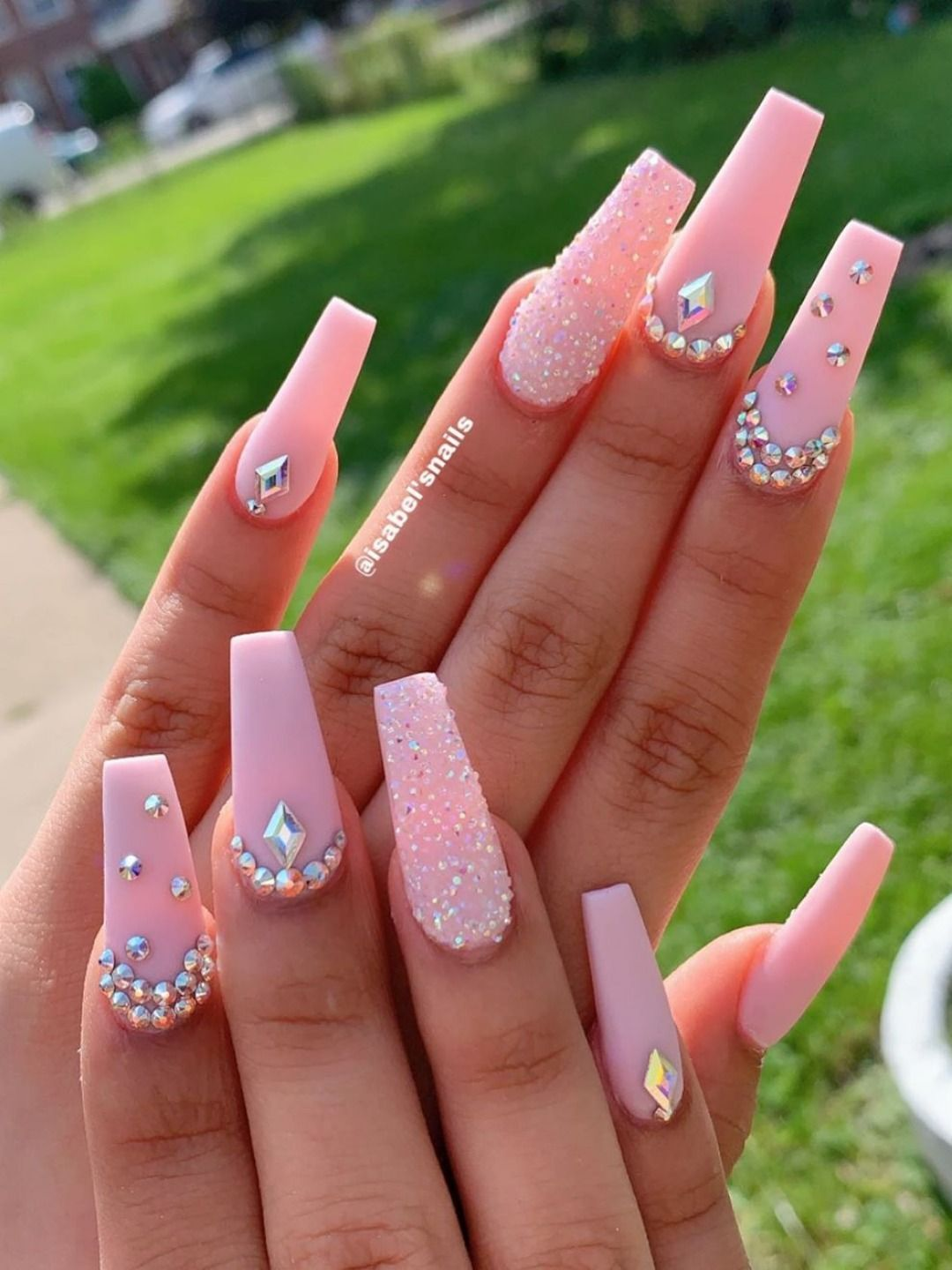 The Best Coffin Nails Ideas That Suit Everyone Nail Inspo Coffin Fig Blog In 2020 Baby Pink Nails Nails Design With Rhinestones Baby Pink Nails Acrylic