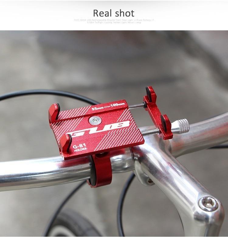 Aluminum Bicycle Holder Alloy Motorcycle Bike MTB Handlebar Cell Phone GPS Mount